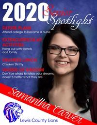 Samantha Carver - Class of 2020