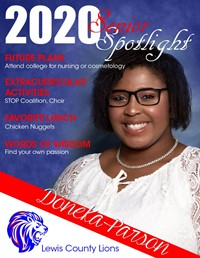 Doneka Parson - Class of 2020