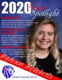 Madison McRoberts - Class of 2020