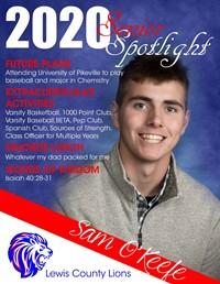 Sam O'Keefe - Class of 2020