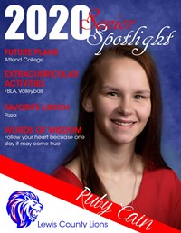 Ruby Cain - Class of 2020
